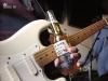 Slide guitar with a bottle of beer